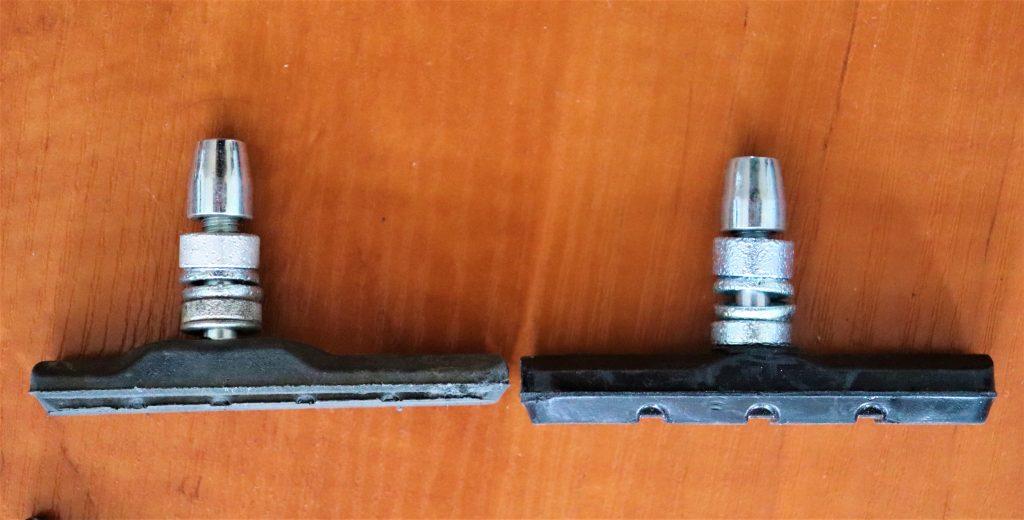 Shorn bicycle brake pads