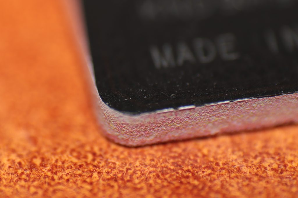 Micro SD card magnified